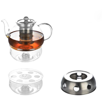 custom heat resistant borosilicate glass large luxury tea set teapot