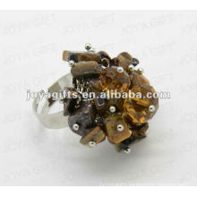 Wrap Rings with Tiger Eye Chip stone