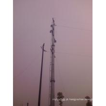 Poste de aço para transmissão de eletricidade galvanizada