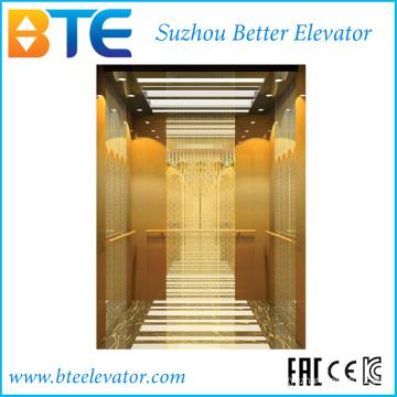 Ce Золотой цвет и стабильный пассажирский лифт без машинного отделения