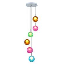 Coloridas luces colgantes decorativas de cristal (MD3168R-6)