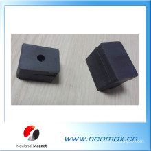 Block ferrite magnets with screw hole