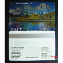 Silver Magnetic stripe card