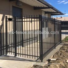 Cheap zinc steel metal fencing,strong fence panels square tube,sharp top edges wrought iron fence