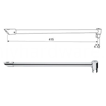 wall mounted bracing bar