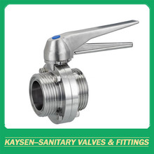 ISO Hygienic Butterfly Valves Male End