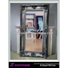 Big bevelled indoor mirror silver