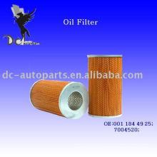 Elemento filtrante de lubricante 001 184 49 25 para Mercedes-Benz