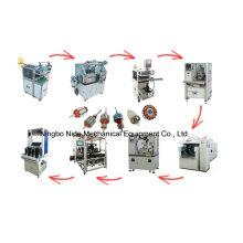 Línea de producción automática de motores eléctricos de rotor de armadura