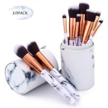 LADES 12 Pcs Leaher Makeup Brush Set