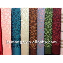 2016 latest fashion spring leopard design reversible color pashmina scarf