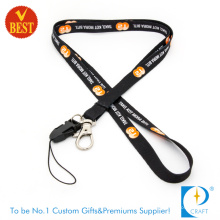Customized Dye Sublimation Impresso Lanyard com corda do telefone no preço de fábrica