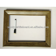 Pizarra decorativa con equipo de reloj / pizarra magnética con marco de madera