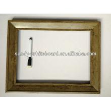Quadro decorativo com equipamento de relógio / quadro magnético com moldura de madeira