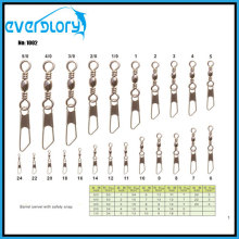 High Quality Barrel Swivel with Safety Snap Fishing Accessory