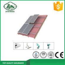 Système de rails en aluminium à montage solaire