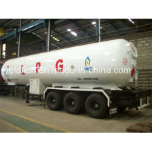 Neuer Entwurf Kundenspezifischer Export Nigeria 59.6m3 LPG Transport-Auflieger-LKW