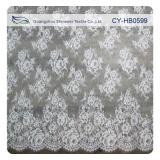 2014 Fashion Scalloped Floral Nylon White Bridal Lace Trim (CY-HB0599)