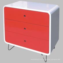 Moderno lustroso elevado cor do armário do armário de madeira móveis de madeira