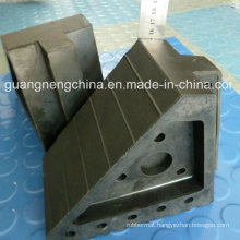 Easy Install Black Car Wedge/Wheel Chock Cbrl/Buffer Block