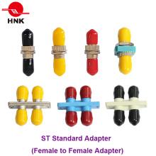 St Duplex Simplex Plástico ou Fibra Óptica Adaptador de Metal