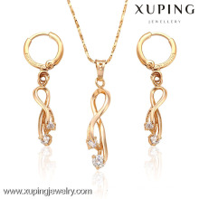 62927- Xuping Female Diamond Charm Bridal Fashion Jewelry Sets