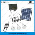 4W Solar Panel 3PCS 1W LED Bulbs Solar Kit From Shenzhen China