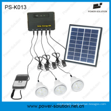2015 New Portable Solar Lighting Home System with 3 LED Lamps