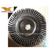 Noué de coupe en acier brosse métallique / fil d'acier brosse ronde