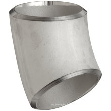 Accesorios de tubería de soldadura a tope Codo 45 ° Acero inoxidable