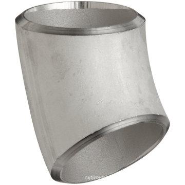Stumpfschweißen Rohrverschraubungen Ellenbogen 45 ° Edelstahl