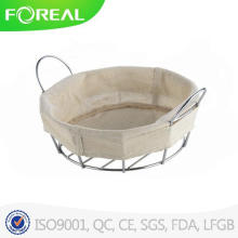 Rodada cromado cesto de pão do fio de Metal