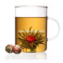 EU STANDARD Pêssego de jasmim branco florescendo chá