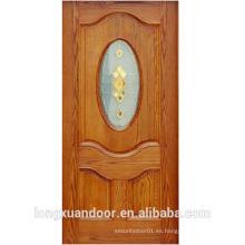 2016 últimos diseños puerta de madera modelo con vidrio de vidrio de madera puerta de diseño para la casa