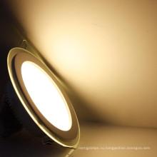 Высокая яркость 3W 4W 6W 9W 12W 15W 18W стекло ультратонкий светодиодный встраиваемый потолочный светильник