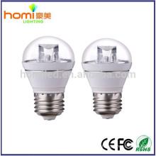 4W alumínio com bulbo corpo branco LED + tampa transparente smd2835 IC controlador 80lm/w, lâmpada LED de garantia de 2 anos