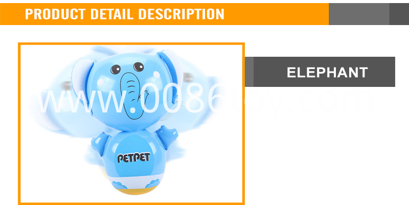 Plastic inflatable elephant