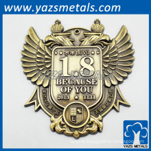 Custom 3D Badges and Emblems crown gold designed
