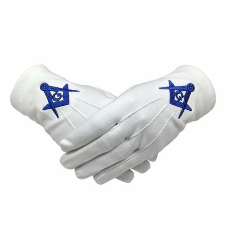 White High Quality Masonic Gloves