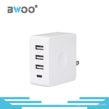 Three USB Wall Charger with UK Us EU Plug