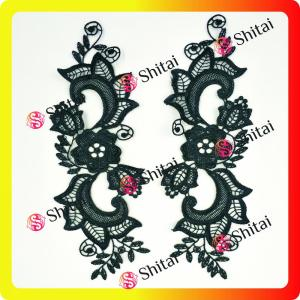 Fashion embroidery pairs flowers