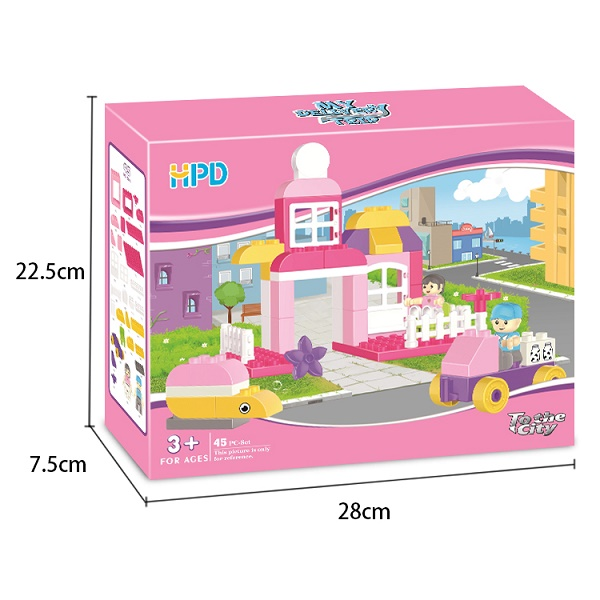 Pink Building Blocks for Toddlers