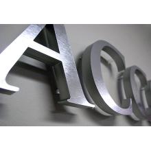 3D fabriqué Bureau métal lettres signe