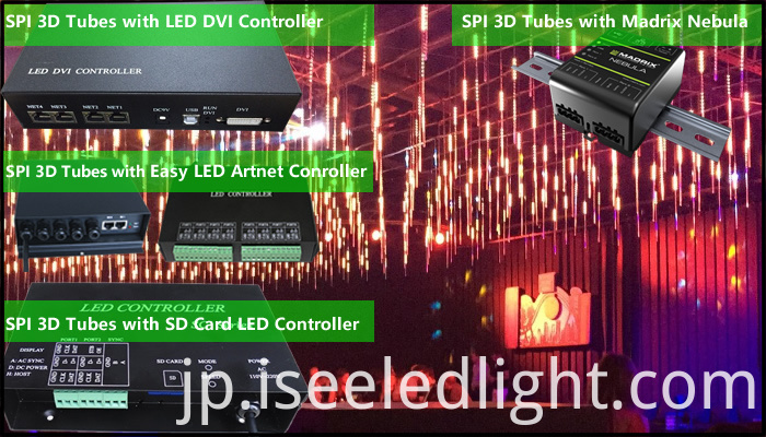 LED controller for SPI 3D Tube
