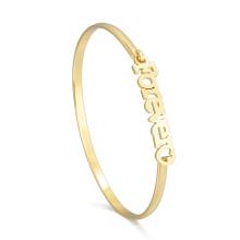 2018 Girl Latest Modern New Gold Pulsera Modelo Cheap Customzed Letter Pulsera