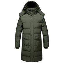 Casacos acolchoados longos masculinos para inverno atacado personalizado
