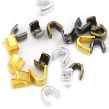 U-shape Brass Top Stop untuk Ritsleting Mode