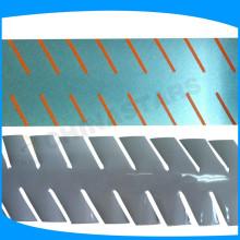Film de transfert de chaleur segmenté, ruban thermoscellant réfléchissant pour le vêtement