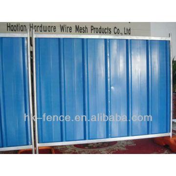 Painéis de aço para uso temporário para uso em locação