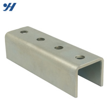 Durable In Use Slotted cold rolled galvanized Customized steel u channel